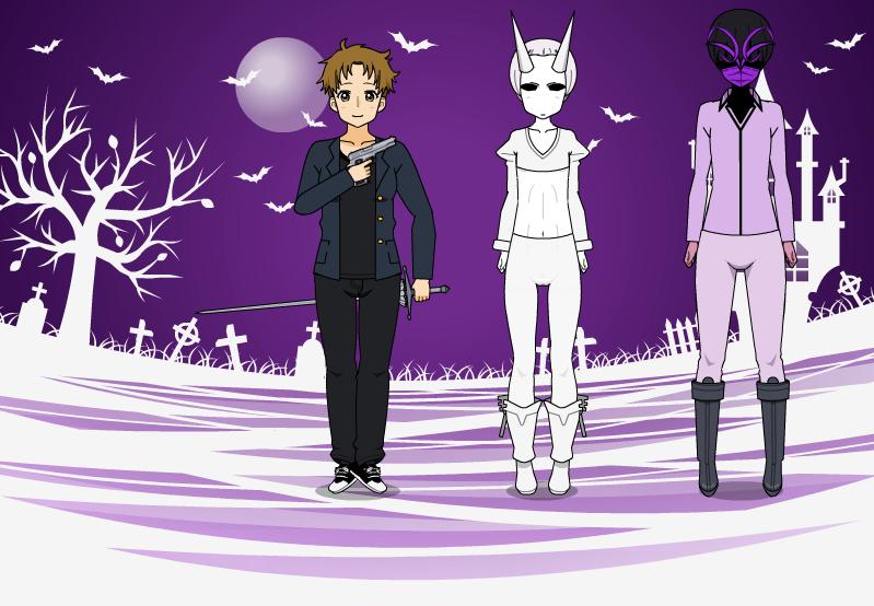 Me And Shizaki (ghost) by shoubu12