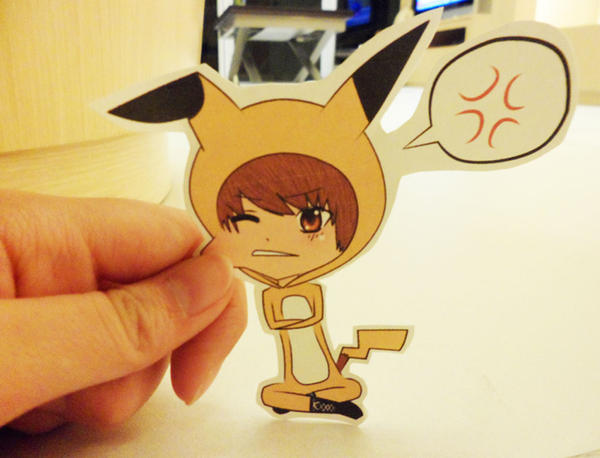 Junhyung Pikachu: Paper Child by SakuraKiss130