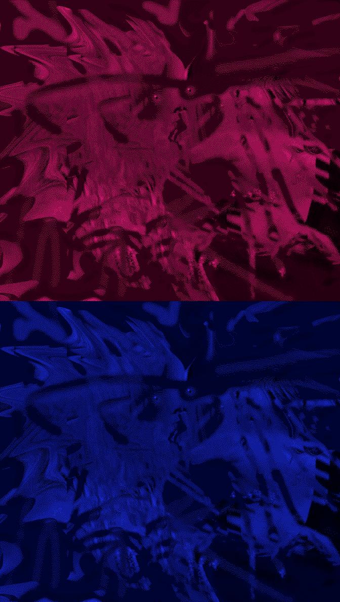 Kiss Pink Blue By Kingofporn