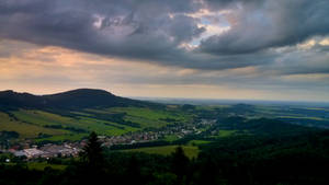 View from Certovy kameny to Jesenik by JiriBobalik