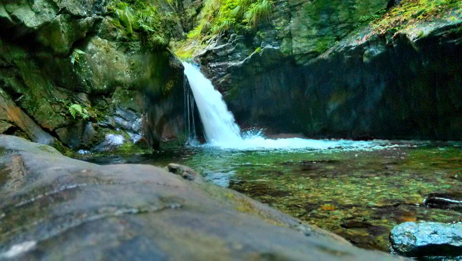 Waterfall Silver stream, Nyznerov, Czech republic by JiriBobalik
