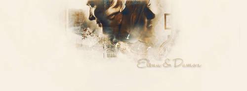 Elena  and Damon by Kolede
