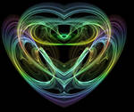 Colorful Fractal Heart
