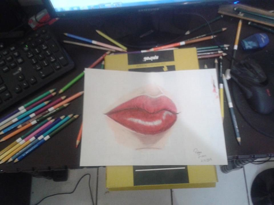 First time using color pencils by Bozoox