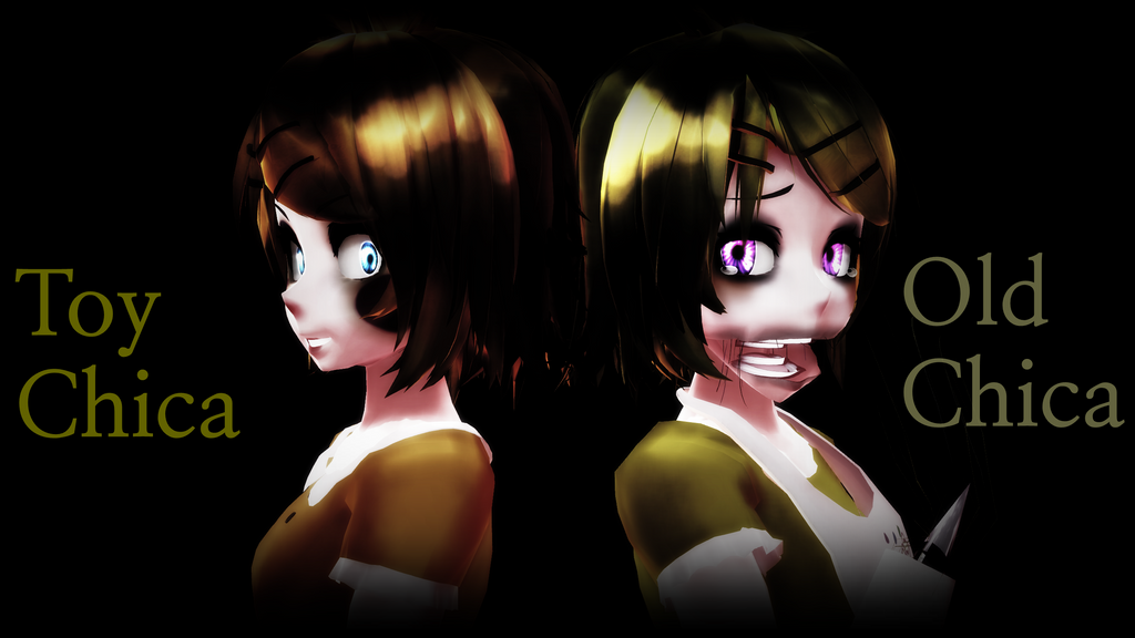 [ MMD X FNAF ] Toy Chica And Old Chica By Xyuning On