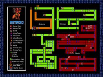 Metroid NES Map by MichaelMiyamoto