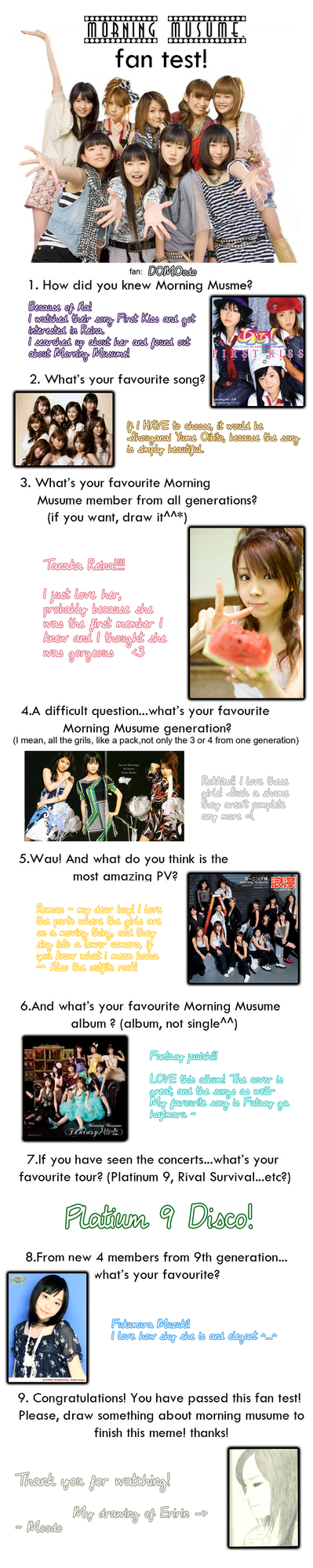 Morning Musume Fan Test by DOMOodo