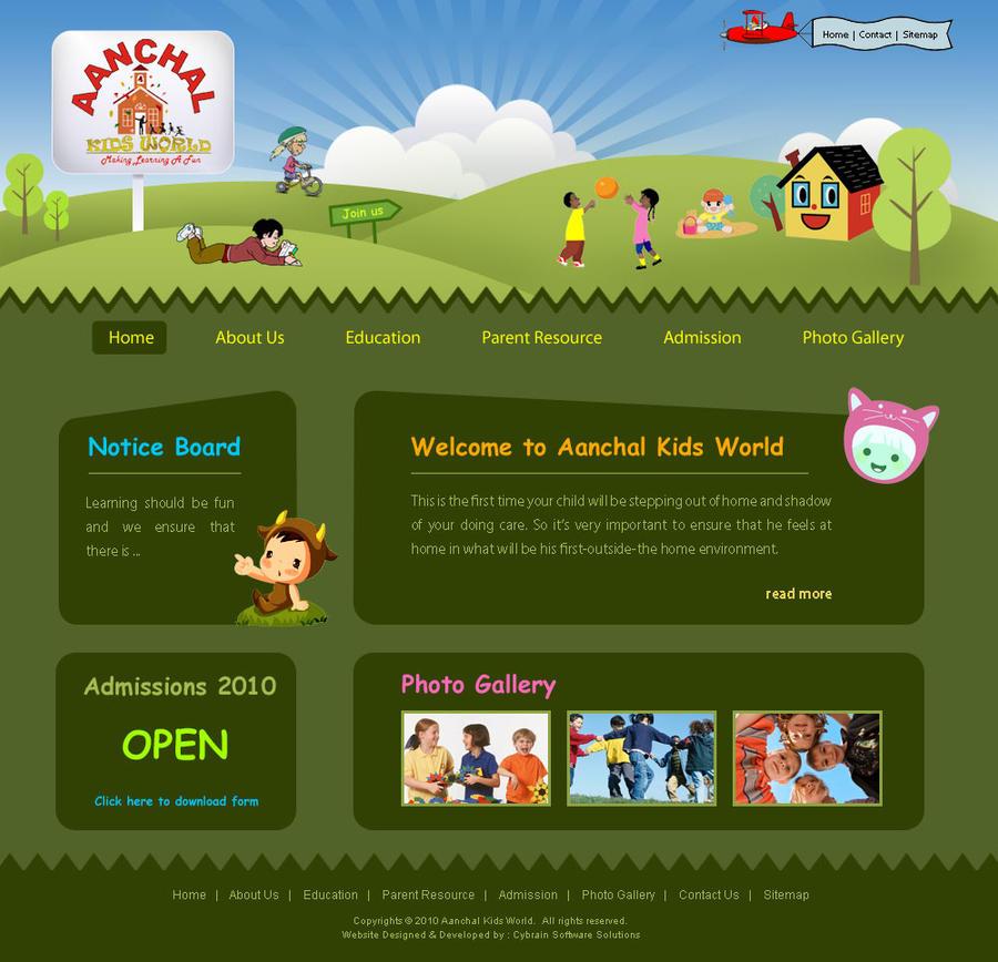 Aanchal Kids World Web Design By Asvirk1982 On Deviantart