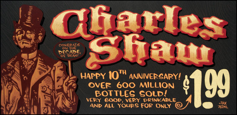 Charles Shaw chalkboard by TraderGino
