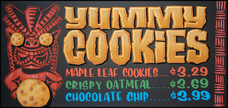 Yummy Cookies with Tiki chalkboard by TraderGino