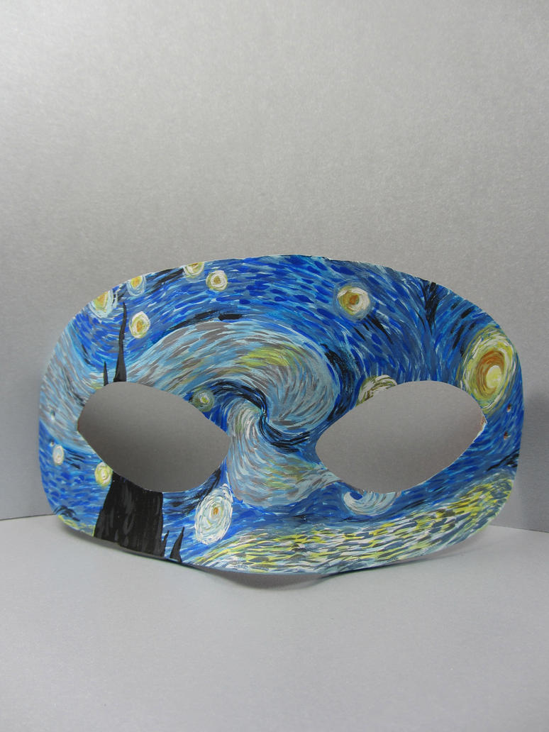 Starry Night leather mask by maskedzone