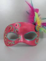 Pink Tropical Masquerade Mask