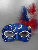 Red, white and blue masquerade mask