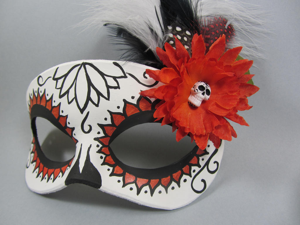Day of the dead orange lotus flower mask by maskedzone on deviantart day of the dead orange lotus flower mask by maskedzone izmirmasajfo