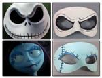 Nightmare Before Christmas masquerade masks