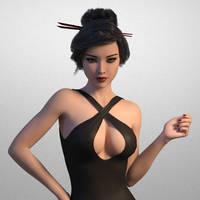 Iray asian girl by BobbyTally
