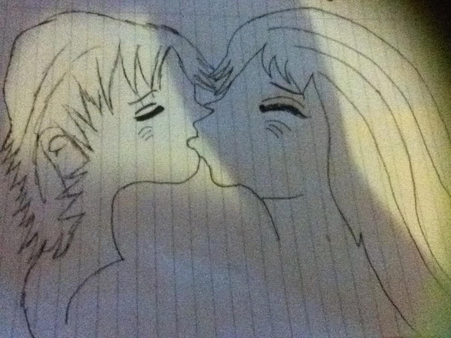 Two people kissing by tia1997x on DeviantArt