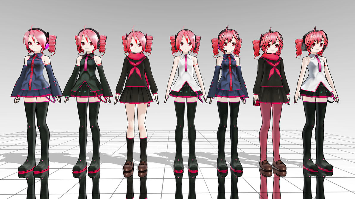 LAT Teto model pack MMD download by Reon046