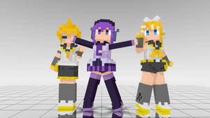 DotPic Rin, Len and Defoko MMD download