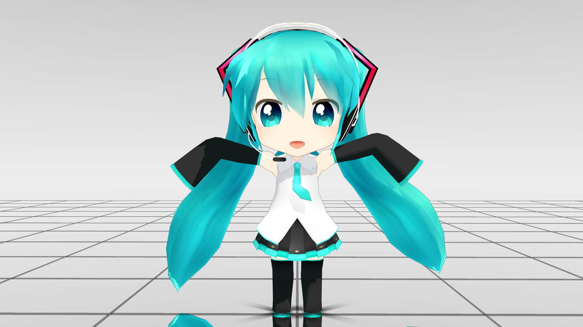 SD Miku MMD download by Reon046