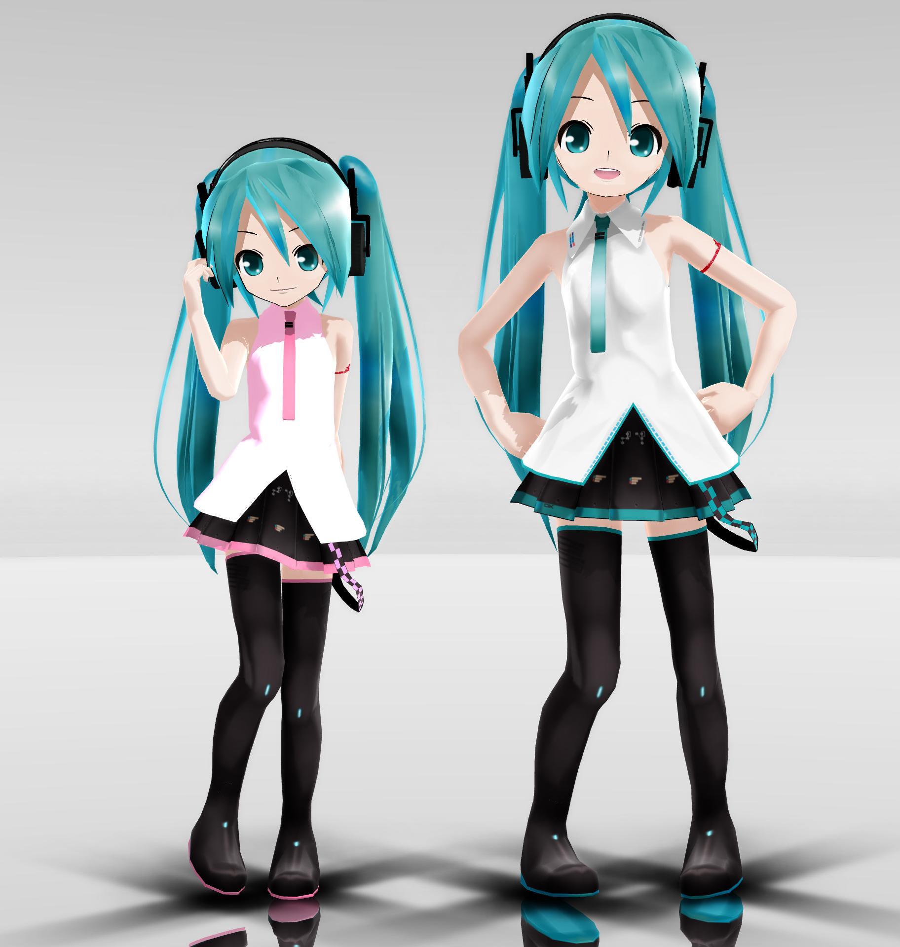 LAT Petite and Chibi Miku by Reon046