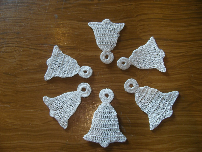 handmade christmas bells by eva-crochet