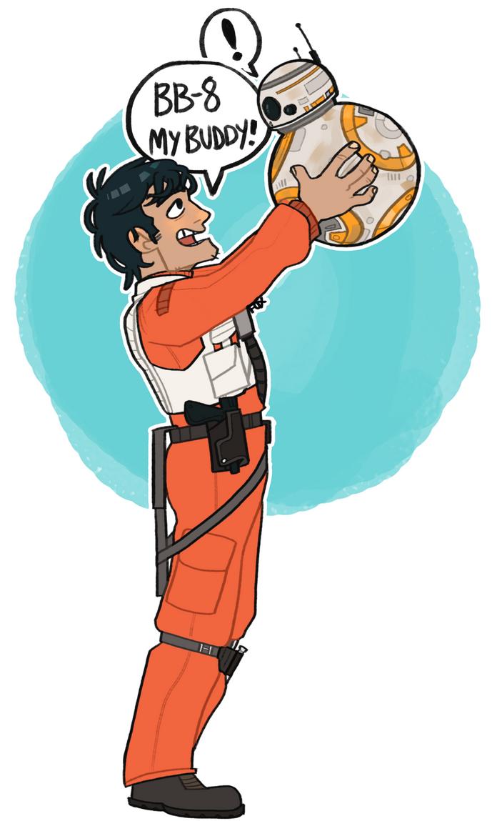 BB-8, MY BUDDY! by CoffeeZombieFox