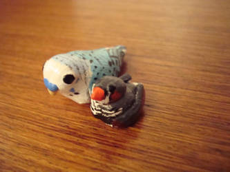 Bird figurines by Apolline