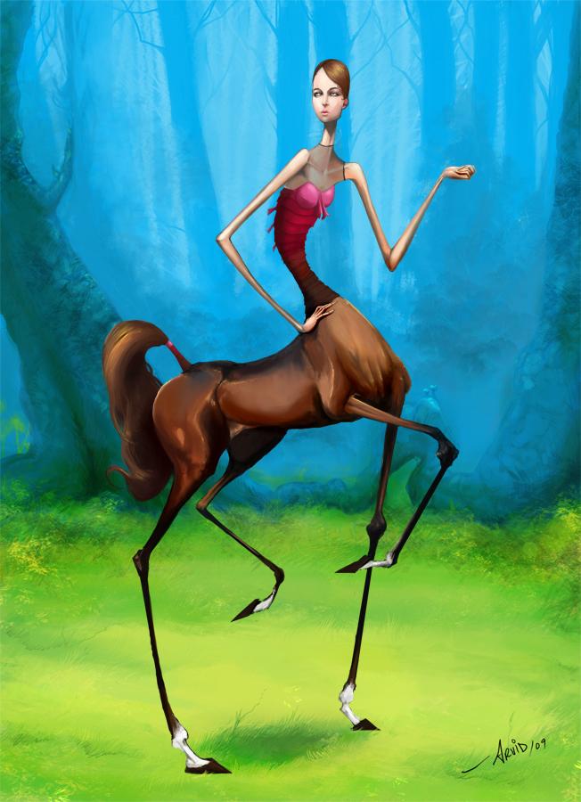 centaur by brknpencil-alleraser
