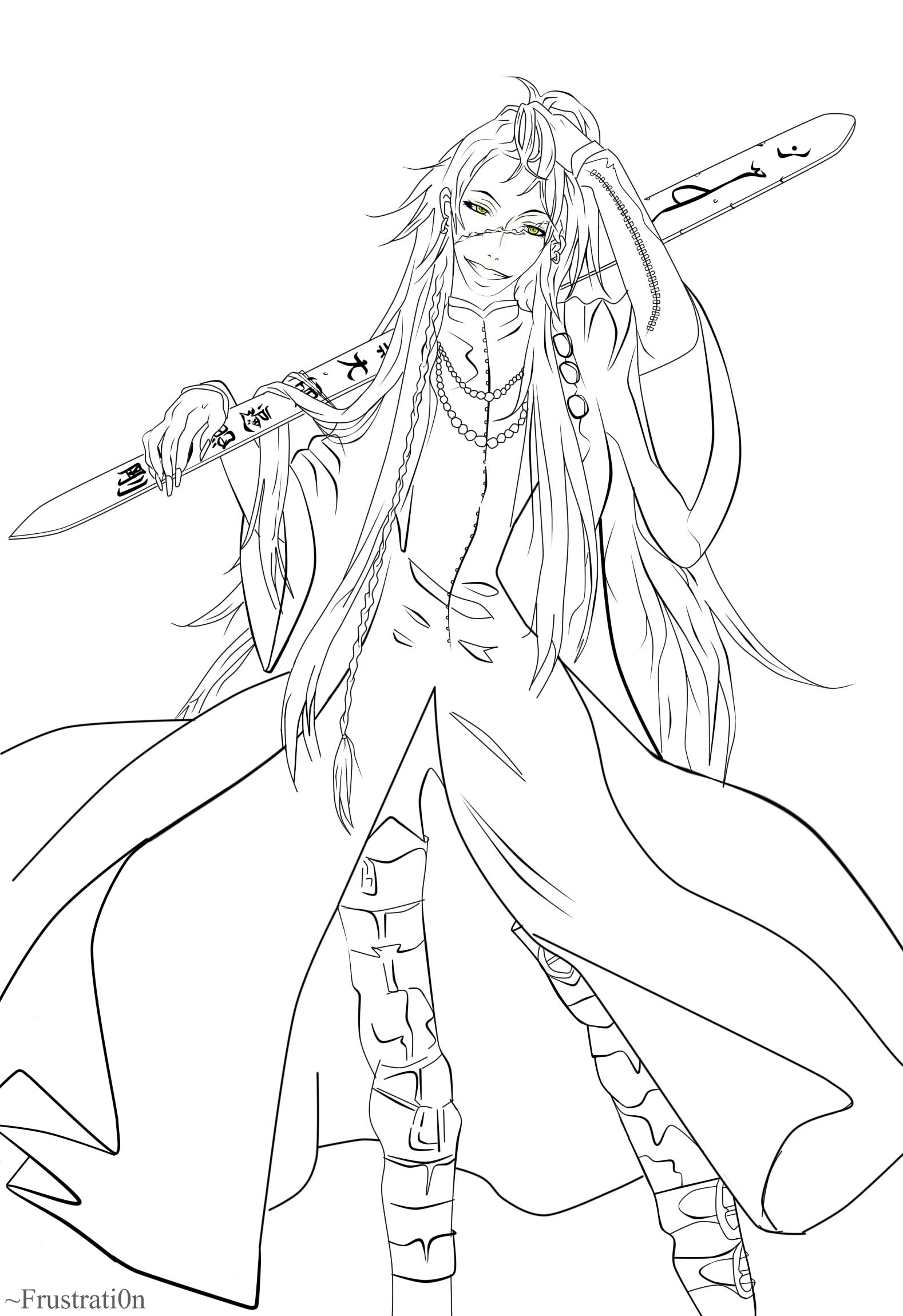 Black butler grell free colouring pages for Coloring pages of the undertaker
