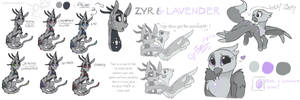 Zyr and Lavender  by HiccupsDoesArt