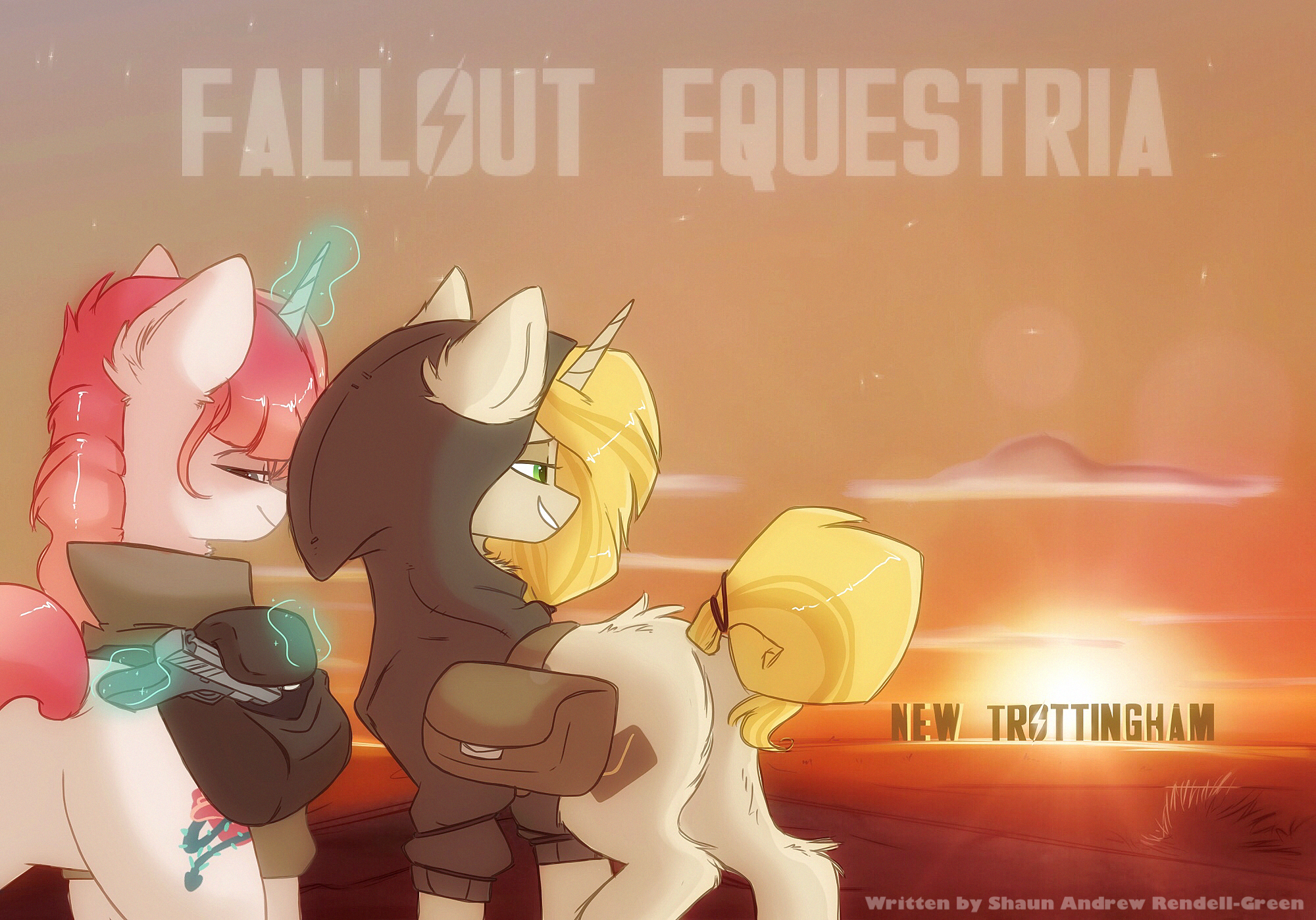 Fallout Equestria - New Trottingham by HiccupsDoesArt