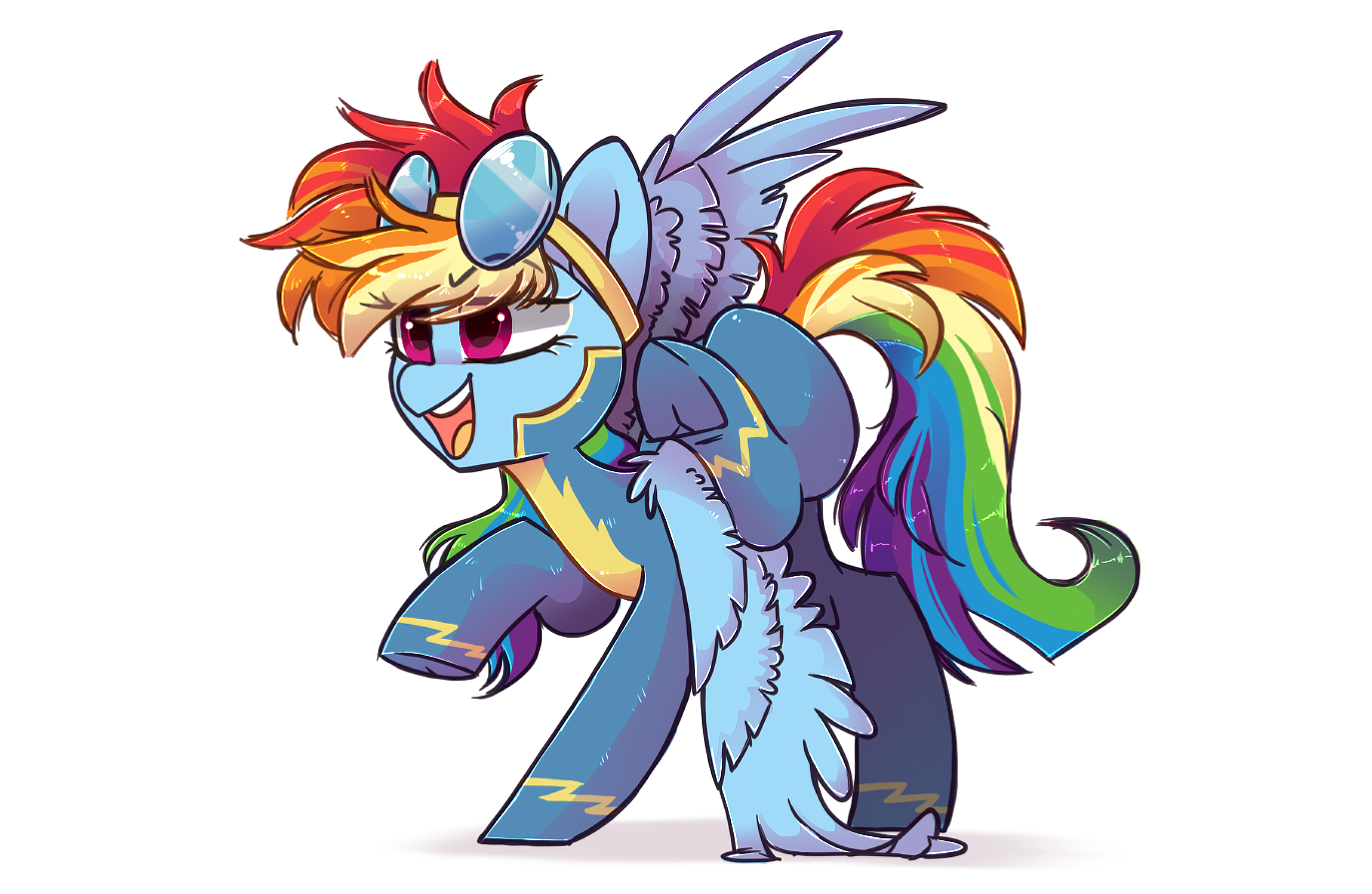 Wonderbolt Rainbow Dash by HiccupsDoesArt