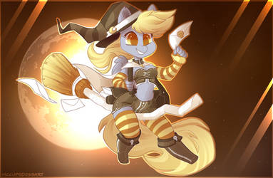 Spooky Scary Derpy Hooves [+Speedpaint] by HiccupsDoesArt