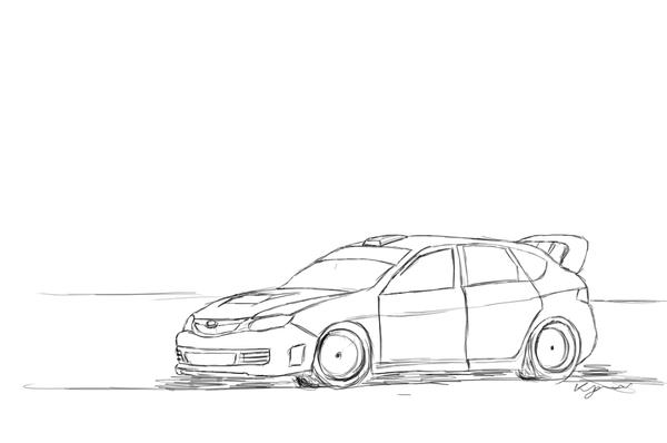 Rally car outline drawing 15