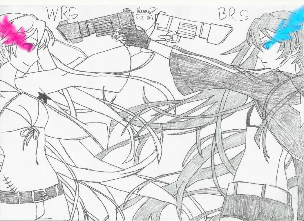 White Rock Shooter VS Black Rock Shooter by keenan905