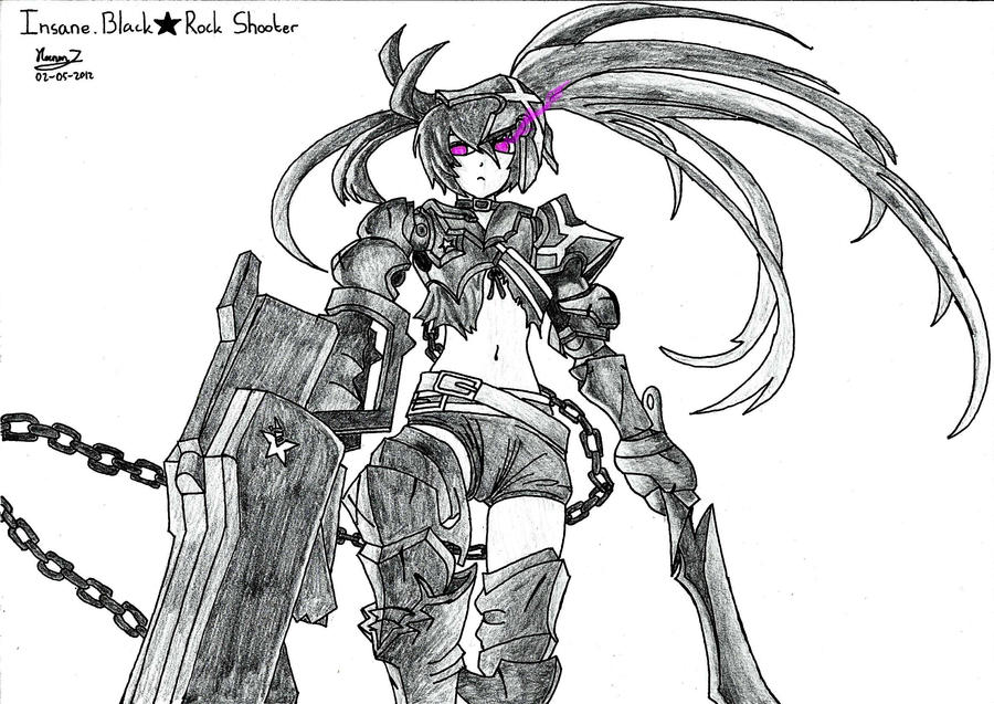 Insane.Black Rock Shooter by keenan905