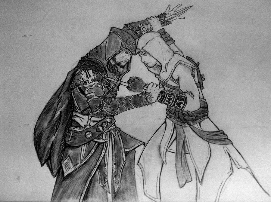 ezio_vs__altair_by_danew_guuy-d4nmgnk.jp