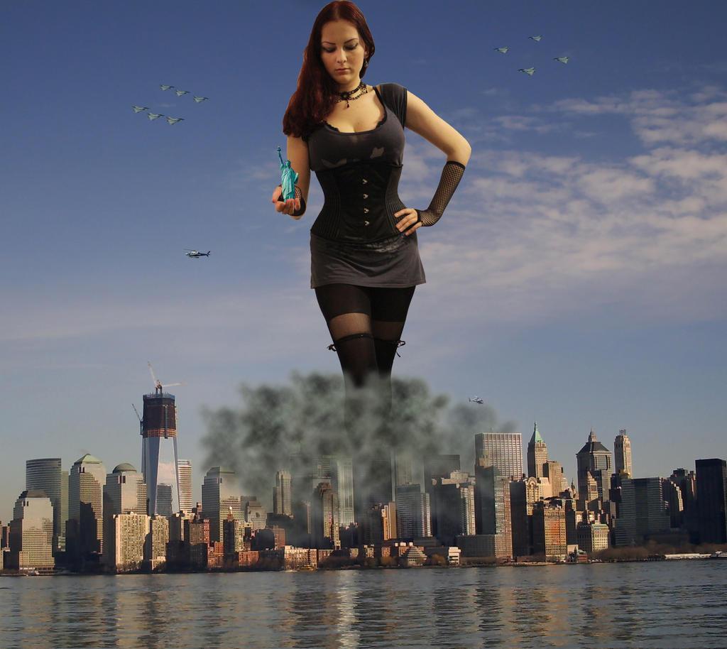 Giant Girl Attacks City - #traffic-club