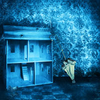 premade background haunted room 2 by H-stock