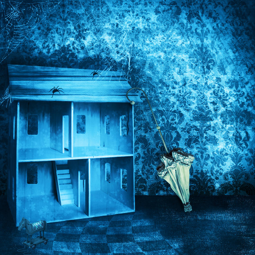 Premade Background Haunted Room 2 By H Stock