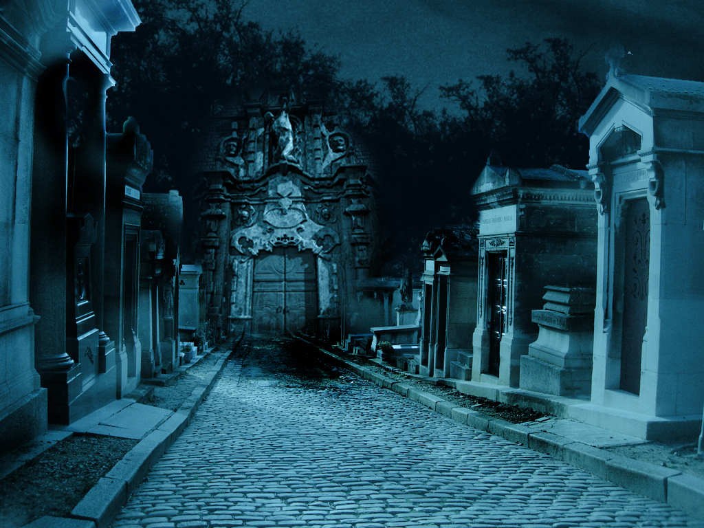 Premade Background Graveyard By H Stock