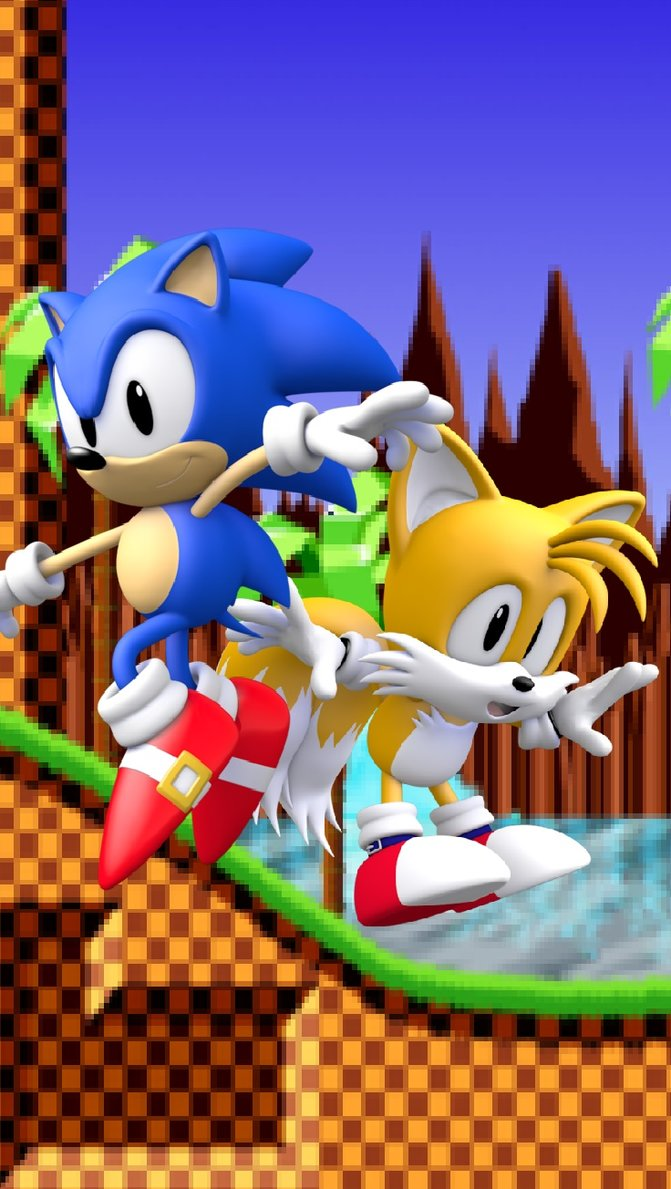 Sonic And Tails Iphone Wallpaper By Sonicthedarkgx On Deviantart