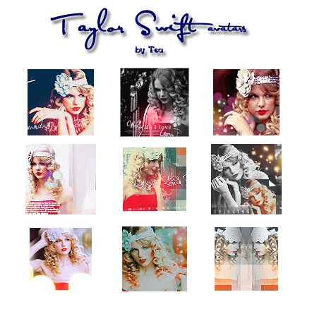 Taylor Swift 9 icons, avatars by angellove97