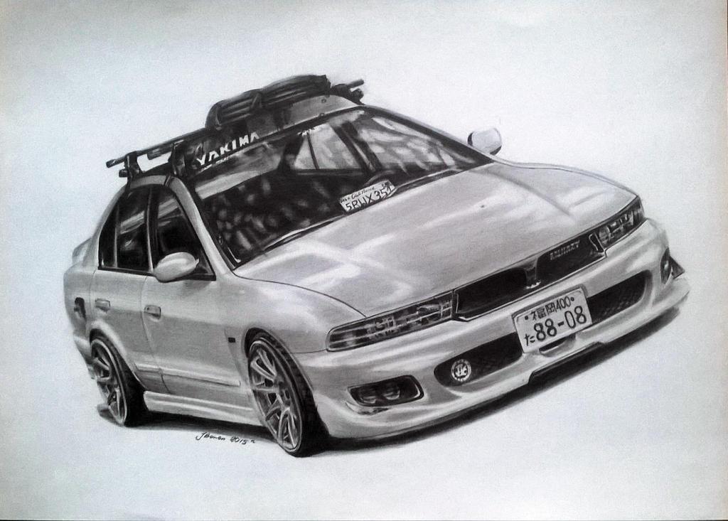 Mitsubishi Galant V6 By Skyree010 On Deviantart