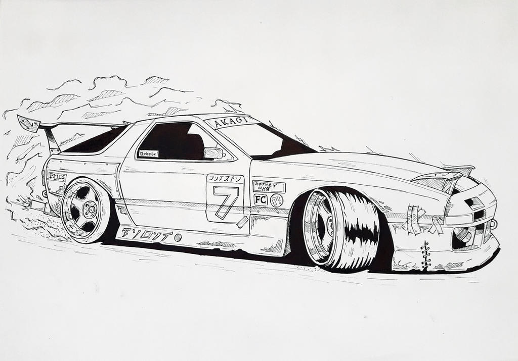 It's just a photo of Dramatic Mazda Rx7 Drawing