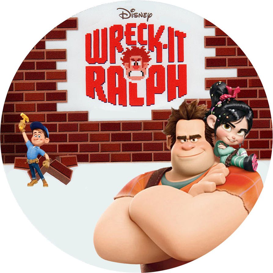 Wreck it Ralph Disc Label by RoadWarrior00