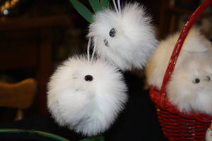 Fuzzy snowball ornaments