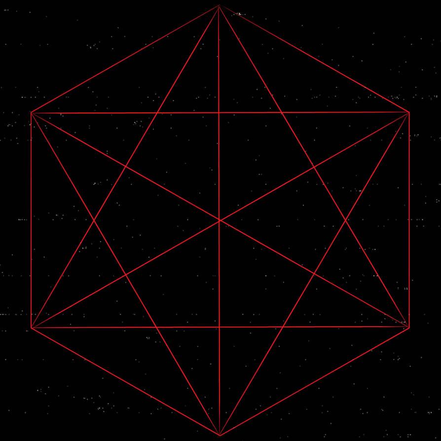 Red Hexagon of Satanic Tribe No. 7