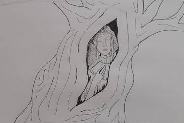 The bride in the tree